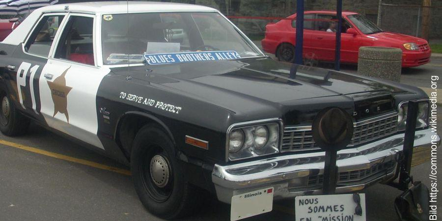 Die Blues Brothers waren in einem Dodge Monaco Sedan unterwegs