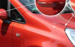 Kratzer im Lack eine Opel Corsa entfernt